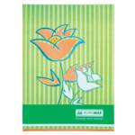 Книга канцелярская Buromax Цветы, А4, 80 л, клетка, салатовый (BM.2300-615)
