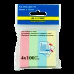 Закладки бумажные с клейким слоем Buromax BM.2306-99, 51х12 мм, 4х100 л, ассорти