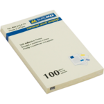 Блок для заметок с клейким слоем Buromax BM.2314-01, 76х127 мм, 100 л, желтый