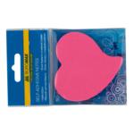 Блок для заметок с клейким слоем Buromax BM.2362-99, Сердце, 50 л, неон, ассорти