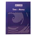 Книга канцелярская Buromax Time Is Money , А4, 96 л, клетка, офсет, твердая обложка, синий (BM.2400-102)