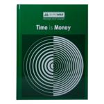 Книга канцелярская Buromax Time Is Money, А4, 96 л, клетка, офсет, твердая обложка, зеленый (BM.2400-104)