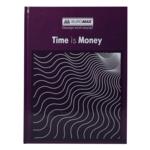 Книга канцелярская Buromax Time Is Money, А4, 96 л, клетка, офсет, твердая обложка, фиолетовый (BM.2400-107)