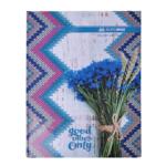Книга канцелярская Buromax ROMANTIC A4 в клетку 96 листов офсет, твердая обложка, синий (BM.2400-302)