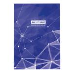 Книга канцелярская Buromax Пирамиды, А4, 96 л, клетка, тверд. ламин. обложка, синий (BM.2400-702)