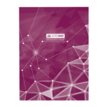 Книга канцелярская Buromax Пирамиды, А4, 96 л, клетка, тверд. ламин. обложка, фиолетовый (BM.2400-707)