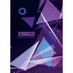 Книга канцелярская Buromax Космос, А4, 96 л, клетка, тверд. ламин. обложка, фиолетовый (BM.2400-807)