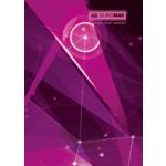 Книга канцелярская Buromax Космос, А4, 96 л, клетка, тверд. ламин. обложка, розовый (BM.2400-810)