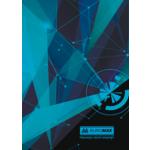Книга канцелярская Buromax Космос, А4, 96 л, клетка, тверд. ламин. обложка, голубой (BM.2400-814)