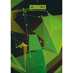 Книга канцелярская Buromax Космос, А4, 96 л, клетка, тверд. ламин. обложка, салатовый (BM.2400-815)