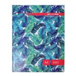 Книга канцелярская Buromax Floristica A4 в клетку 144 листа Бирюзовая (BM.24419102-06)