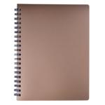 Книжка записная на пружине Buromax STATUS А4, 80л.,кл., пластик.обл., бронза (BM.24452153-51)