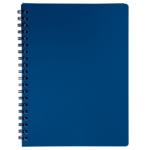Книжка записная на пружине Buromax STATUS А4, 80л.,кл., пластик.обл., марэнго (BM.24452153-53)