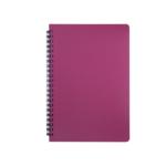 Тетрадь Buromax Office 96 листов А5 в клетку пластиковая обложка Красный (BM.24551150-05)