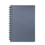 Книжка записная на пружине Buromax STATUS А6, 80л.,кл., пластик.обл., графит (BM.24652153-50)