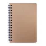Книжка записная на пружине Buromax STATUS А6, 80л.,кл., пластик.обл., бронза (BM.24652153-51)