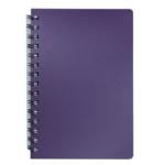 Книжка записная на пружине Buromax STATUS А6, 80л.,кл., пластик.обл., чароит (BM.24652153-52)