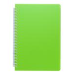 Тетрадь Buromax Fresh 60 листов А5 без линовки пластиковая обложка Салатовый (BM.24554056-15)