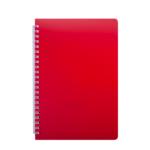 Тетрадь Buromax Bright 60 листов А5 в клетку пластиковая обложка Красный (BM.24554155-05)