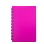Тетрадь Buromax Bright 60 листов А5 в клетку пластиковая обложка Розовый (BM.24554155-10)
