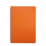 Тетрадь Buromax Bright 60 листов А5 в клетку пластиковая обложка Оранжевый (BM.24554155-11)