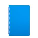 Тетрадь Buromax Bright 60 листов А5 в клетку пластиковая обложка Голубой (BM.24554155-14)