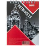 Блокнот Buromax Metropolis 48 листов А6 в клетку Красный (BM.24645101-05)
