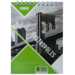 Блокнот Buromax Metropolis 48 листов А6 в клетку Салатовый (BM.24645101-15)