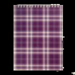 Блокнот на пружине сверху Buromax, А5, 48 л, клетка, фиолетовый (BM.2470-07)