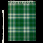 Блокнот на пружине сверху Buromax, А6, 48 л, клетка, зеленый (BM.2480-04)