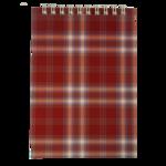 Блокнот на пружине сверху Buromax, А6, 48 л, клетка, бордовый (BM.2480-13)