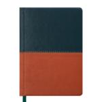 Ежедневник недатированный Buromax Quattro, А6, 288 стр., темно-зеленый+светло-коричневый (BM.2609-86)