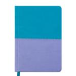 Ежедневник недатированный Buromax Quattro, А6, 288 стр., бирюза+лаванда (BM.2609-93)