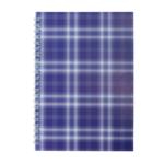 Тетрадь на пружине сбоку Buromax Shotlandka, А5, 48л., клетка, картонная обложка, фиолетовый (BM.2591-07)