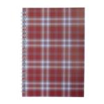 Тетрадь на пружине сбоку Buromax Shotlandka, А5, 48л., клетка, картонная обложка, бордо (BM.2591-13)