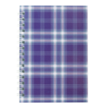 Тетрадь на пружине сбоку Buromax Shotlandka, А6, 48л., клетка, картонная обложка, фиолетовый (BM.2592-07)