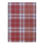 Тетрадь на пружине сбоку Buromax Shotlandka, А6, 48л., клетка, картонная обложка, бордо (BM.2592-13)