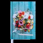 Ежедневник недатированный Buromax Daisy, А6, 288 стр., бирюзовый (BM.2601-06)
