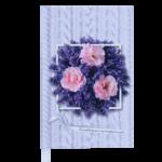Ежедневник недатированный Buromax Daisy, А6, 288 стр., лавандовый (BM.2601-39)