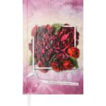 Ежедневник недатированный Buromax Daisy, А6, 288 стр., вишневый (BM.2601-44)