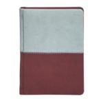 Ежедневник недатированный Buromax Quattro, А6, 288 стр., бордовый+серый (BM.2609-88)