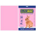 Бумага цветная Buromax, А4, 80г/м2, PASTEL, розовый, 20л. (BM.2721220-10)