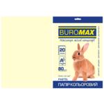 Бумага цветная Buromax, А4, 80г/м2, PASTEL, кремовый, 20 листов (BM.2721220-49)