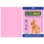 Бумага цветная Buromax, А4, 80г/м2, PASTEL, розовый, 50 листов (BM.2721250-10)