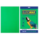 Бумага цветная Buromax, А4, 80г/м2, INTENSIV, зеленый, 20 листов (BM.2721320-04)