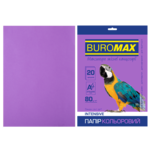 Бумага цветная Buromax, А4, 80г/м2, INTENSIV, фиолетовый, 20 листов (BM.2721320-07)