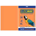 Бумага цветная Buromax, А4, 80г/м2, INTENSIV, оранжевый, 20 листов (BM.2721320-11)