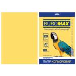 Бумага цветная Buromax, А4, 80г/м2, INTENSIV, золотой, 20 листов (BM.2721320-23)