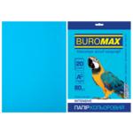 Бумага цветная Buromax, А4, 80г/м2, INTENSIV, светло-синий, 20 листов (BM.2721320-30)
