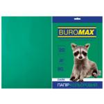 Бумага цветная Buromax, А4, 80г/м2, DARK, темно-зеленый, 20 листов (BM.2721420-04)